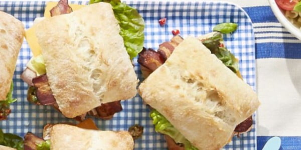 Pimiento Salad Club Sandwiches #picnic #sandwich #recipe #snack