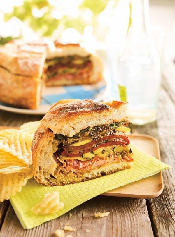 Muffuletta Picnic Sandwich #picnic #sandwich #recipe #snack
