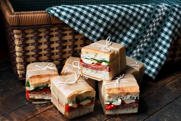 Pressed Italian Picnic Sandwiches #picnic #sandwich #recipe #snack