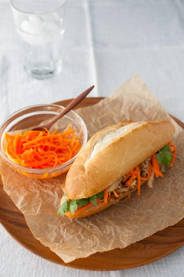 Roasted Chicken Banh Mi Sandwich #picnic #sandwich #recipe #snack