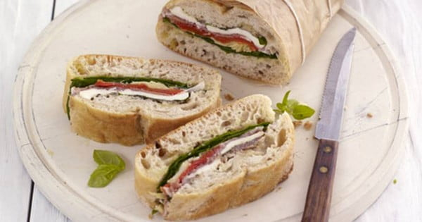 Pressed Picnic Sandwich Recipe #picnic #sandwich #recipe #snack