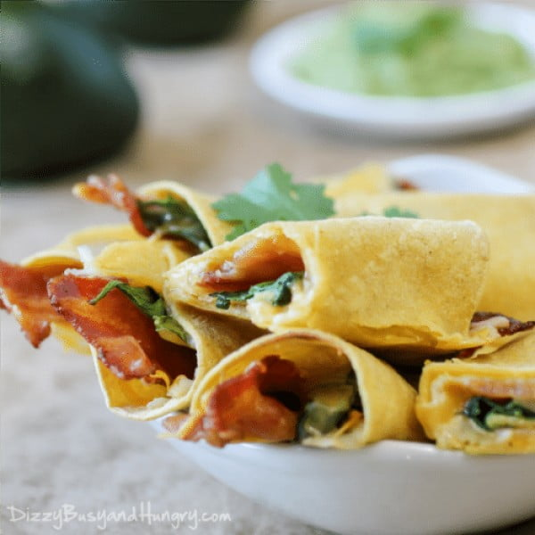 Cheesy Bacon Taquitos #taquitos #mexican #mexicanfood #snack #lunch #recipe