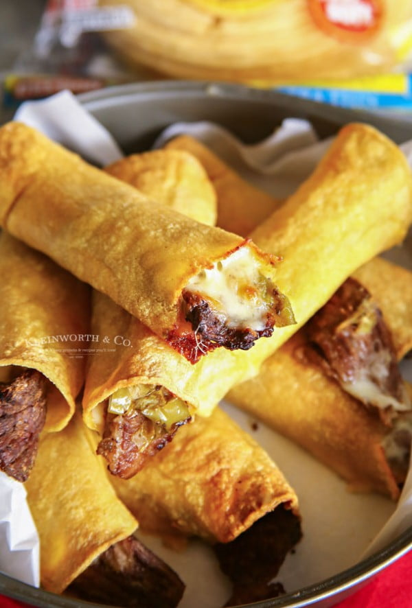 Air Fried Philly Cheesesteak Taquitos #taquitos #mexican #mexicanfood #snack #lunch #recipe