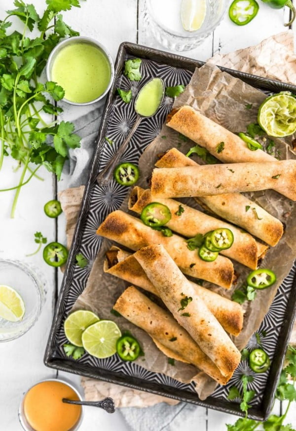 Sweet Potato Black Bean Taquitos #taquitos #mexican #mexicanfood #snack #lunch #recipe