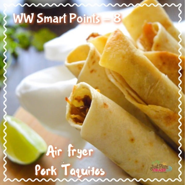 Air Fryer Taquitos Recipe: Weight Watchers Friendly & Yummy! #taquitos #mexican #mexicanfood #snack #lunch #recipe