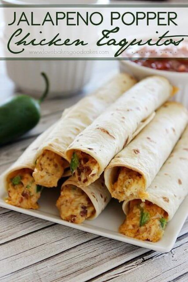 Jalapeno Popper Chicken Taquitos #baconmonth #putsomepiginit #taquitos #mexican #mexicanfood #snack #lunch #recipe