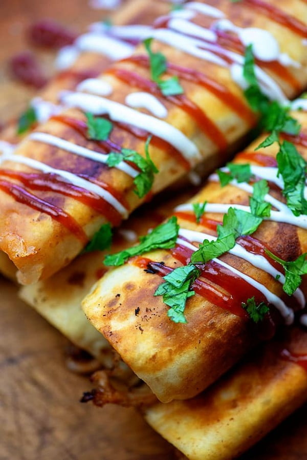 BBQ Ranch Pulled Pork Taquitos #taquitos #mexican #mexicanfood #snack #lunch #recipe