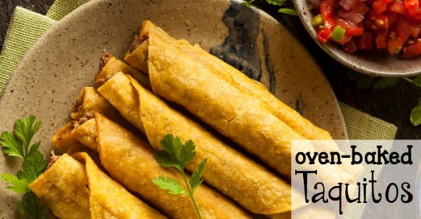 Oven Baked Taquitos #taquitos #mexican #mexicanfood #snack #lunch #recipe
