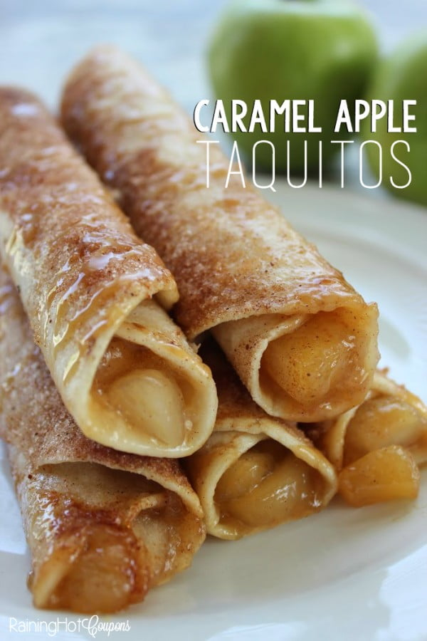 Caramel Apple Taquitos #taquitos #mexican #mexicanfood #snack #lunch #recipe