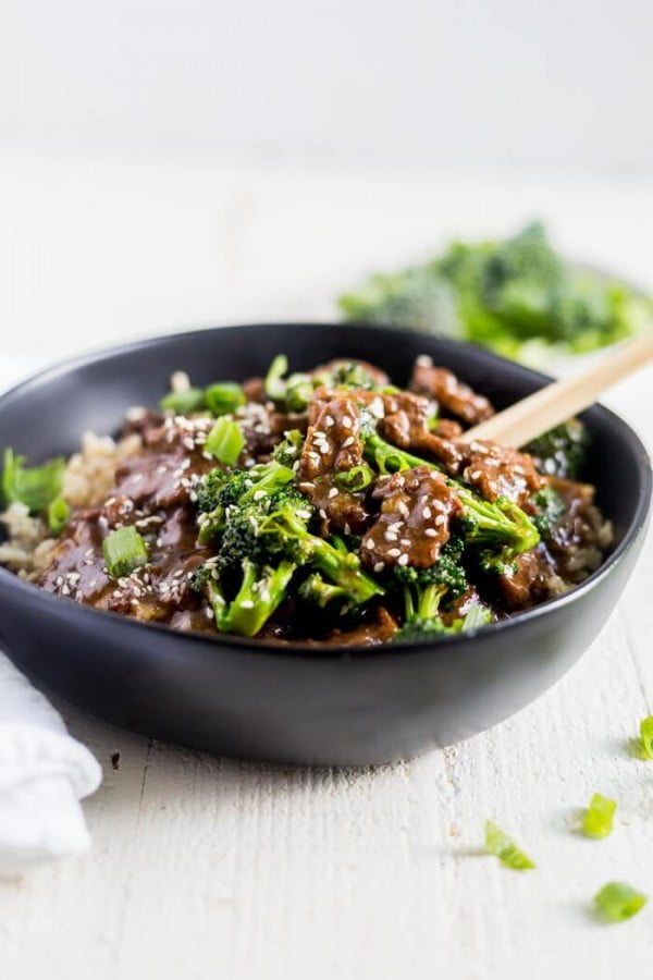 Healthy Instant Pot Mongolian Beef #weightwatchers #recipe #dinner #healthy